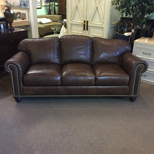 Whittemore Sherrill Leather Sofa - Image 2 of 11