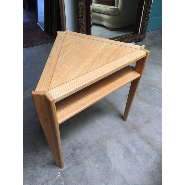 Studio Triangular Side Table in Solid Oak For Sale - Image 10 of 10