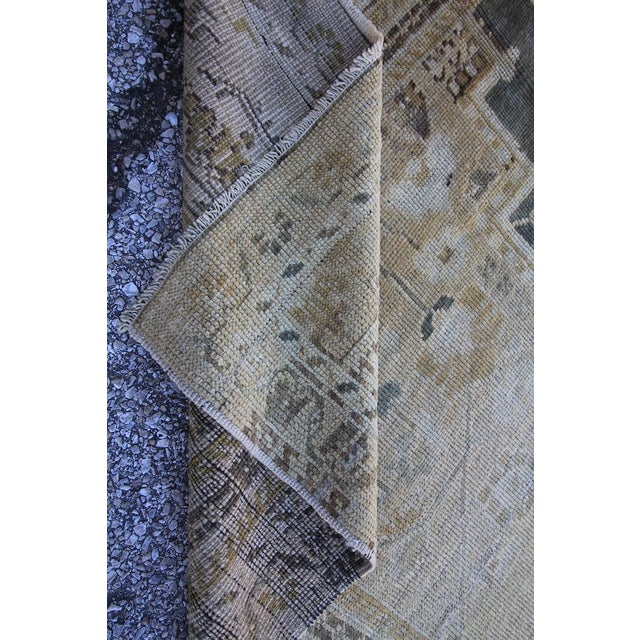 "Antique Turkish Oushak Rug - 4'10"" X 10'5"" - Image 5 of 5"