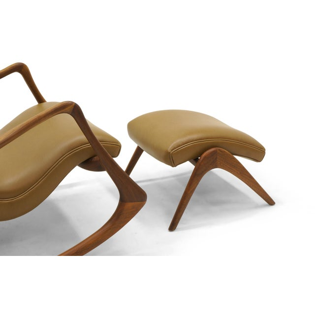 Vladimir Kagan Contour Rocker with Ottoman, Holly Hunt Leather, Excellent - Image 9 of 11