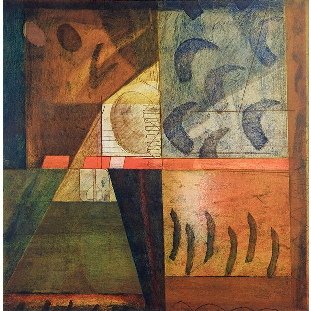 Abstract Etching on Paper by Garcia For Sale