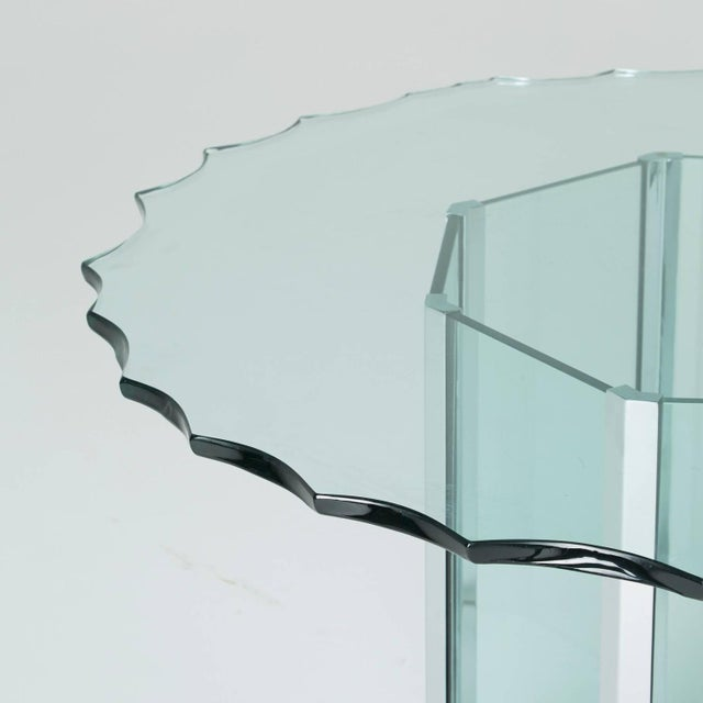 1970s Custom Glass and Chrome Table by Pace - Image 5 of 7
