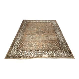 1940s Vintage Persian Oushak Style Rug - 8′3″ × 11′ For Sale