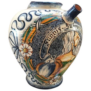 Italian Faience Wine Jug