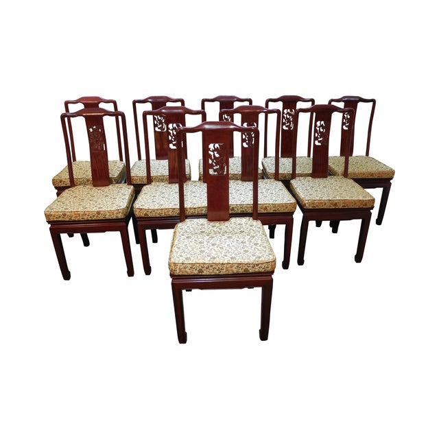 Chinese Rosewood Oriental Style Dining Chairs - 10 - Image 1 of 10
