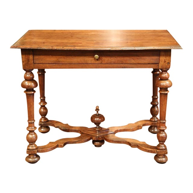 Late 18th Century French Walnut Side Table For Sale