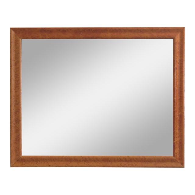 Brown 1990s Vintage Birdseye Maple Framed Rectangular Mirror For Sale - Image 8 of 8