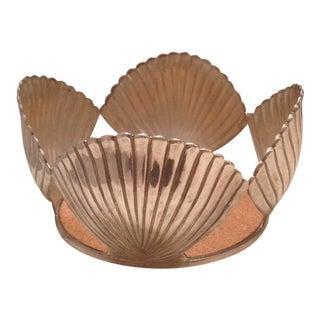 Emilia Castillo Silver Seashell Champagne Coaster For Sale