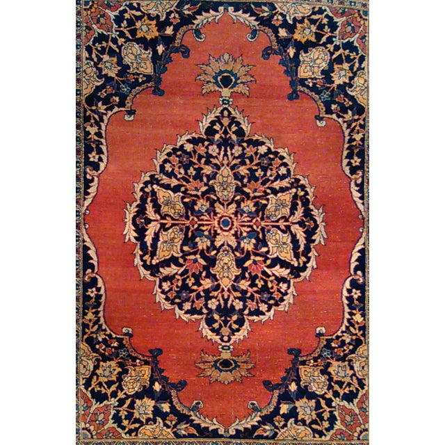 """Islamic Antique Tabriz Rug - 4'5"""" X 6'2"""" For Sale - Image 3 of 3"""