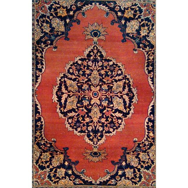 """Antique Tabriz Rug - 4'5"""" X 6'2"""" - Image 3 of 3"""