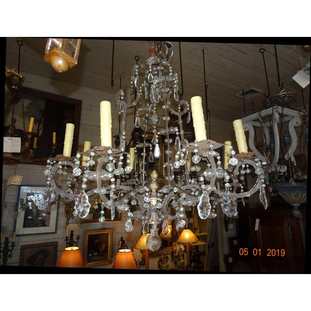18th Century Italian Crystal Chandelier For Sale - Image 13 of 13