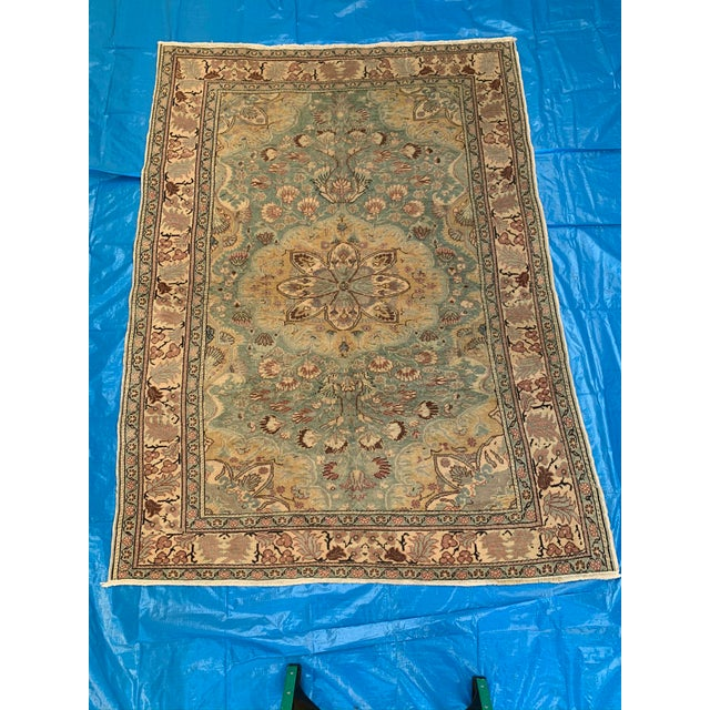 Antique Persian Area Rug- 4′9″ × 6′5″ For Sale - Image 9 of 9