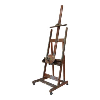 Vintage C.1940's-50's No.330 Anco Greenwich Professional Painters Easel & Painters Palette II For Sale