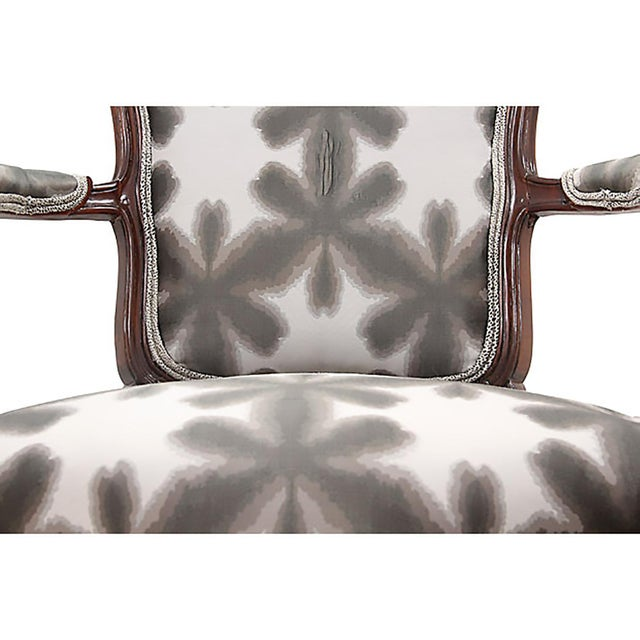 Scalamandre & Kravet Upholstered Louis XV Style Fauteuils, a Pair For Sale In Tampa - Image 6 of 8