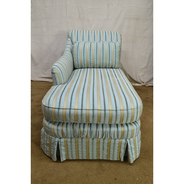 Cox Quality Upholstered Recamier Chaise Lounge For Sale In Philadelphia - Image 6 of 12