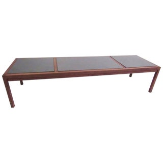 Vintage Modern Slate Top Coffee Table For Sale