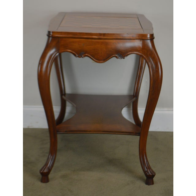 Italian Provincial Louis XV Style Game Table W/ Chess Board Top For Sale In Philadelphia - Image 6 of 13