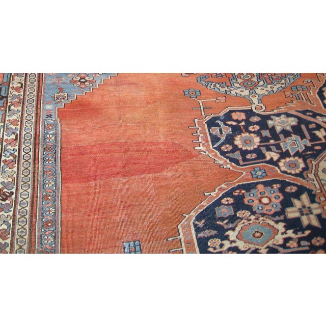 Handmade antique Persian Bakshaish fine weave rug in good condition. The rug is from the end of 19th century. ​-condition:...