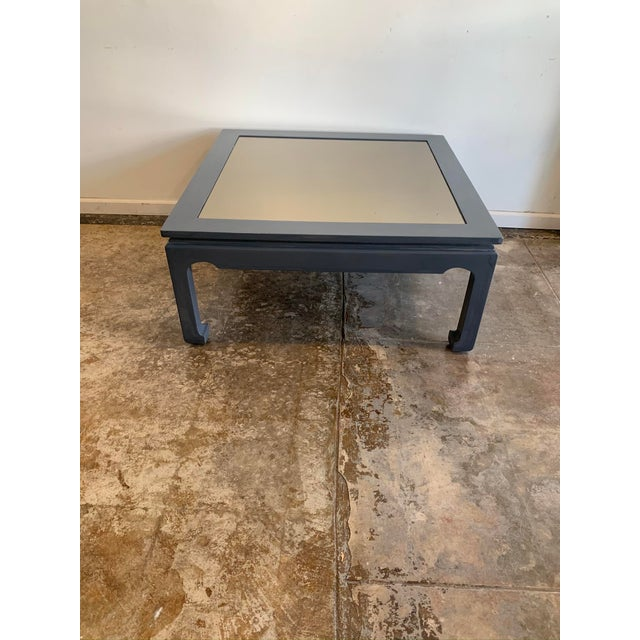 1970s Asian Style Cocktail Table with Glass For Sale - Image 4 of 10