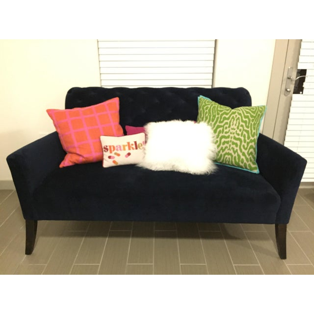 Traditional West Elm Elton Settee - Loveseat For Sale - Image 3 of 3
