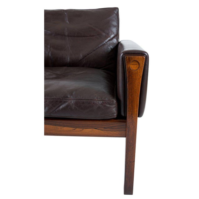 Black Pair of Hans Wegner AP 62 Lounge Chairs For Sale - Image 8 of 10