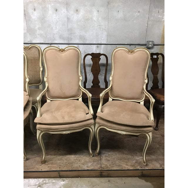 Mid 20th Century Vintage Mid Century Louis XV Pink Chairs- A Pair For Sale - Image 5 of 5