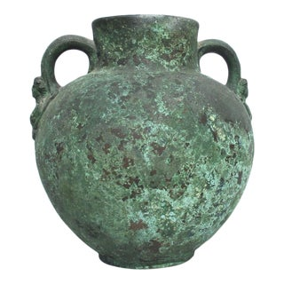 Antique Grand Tour Two Handled Bronze Vessel For Sale