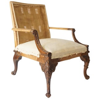 Library Armchair, Manner of Giles Grendey For Sale