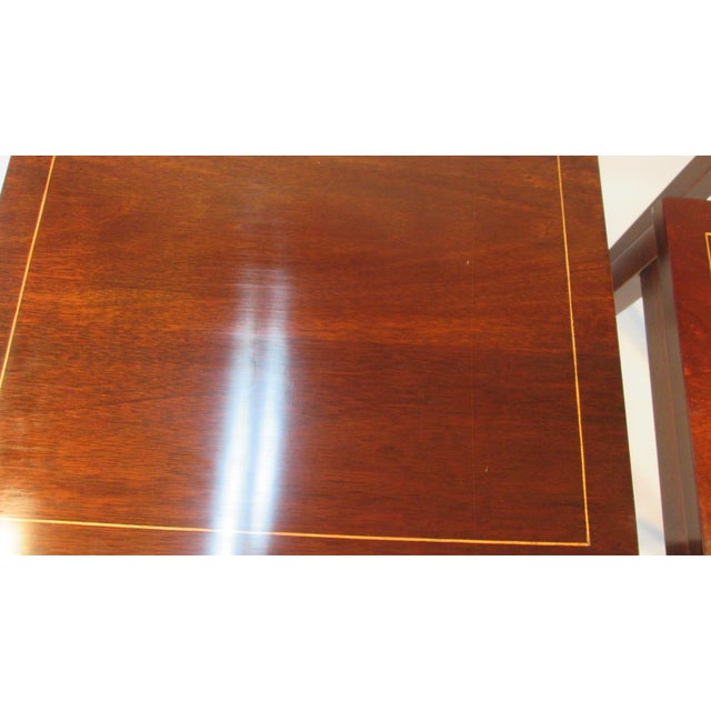 1960s Georgian Mahogany Nesting Tables - Set of 3 For Sale In Portland, ME - Image 6 of 10