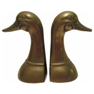Brass Duck Book Ends For Sale