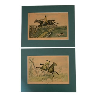 Pair of English Hunting Prints by Henry Alken, London For Sale