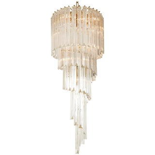 Spiral Chandelier by Camer For Sale