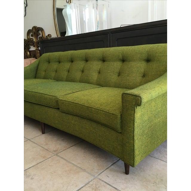 Vintage Lime Green Sofa - Image 8 of 11