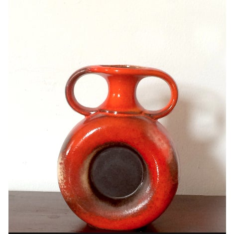 Vintage Orange Austrian Vase Chairish
