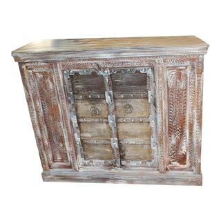 1920s Boho Chic Distressed Buffet For Sale