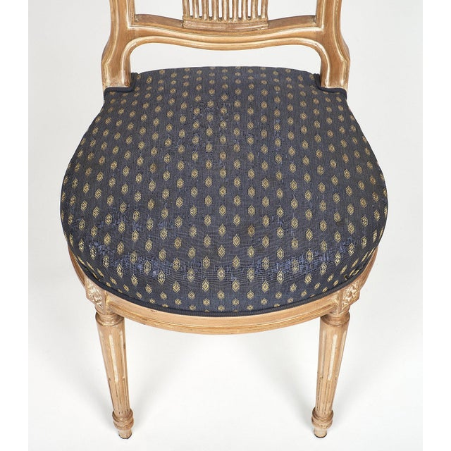 Early 20th Century Louis XVI Style Céruse Dining Chairs For Sale - Image 5 of 10