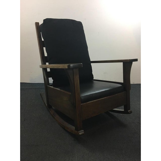 Mission Vintage Mission Style Rocking Chair For Sale - Image 3 of 4