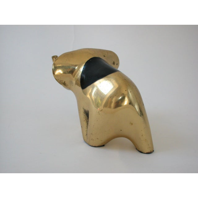 Brass Mid-Century Modern Brass Elephant For Sale - Image 7 of 10
