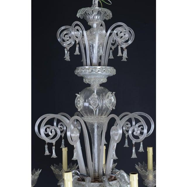 Antique Italian 10-Light Handblown Murano Glass Chandelier