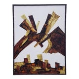 Image of 1980s Walcutt Abstract Painting For Sale