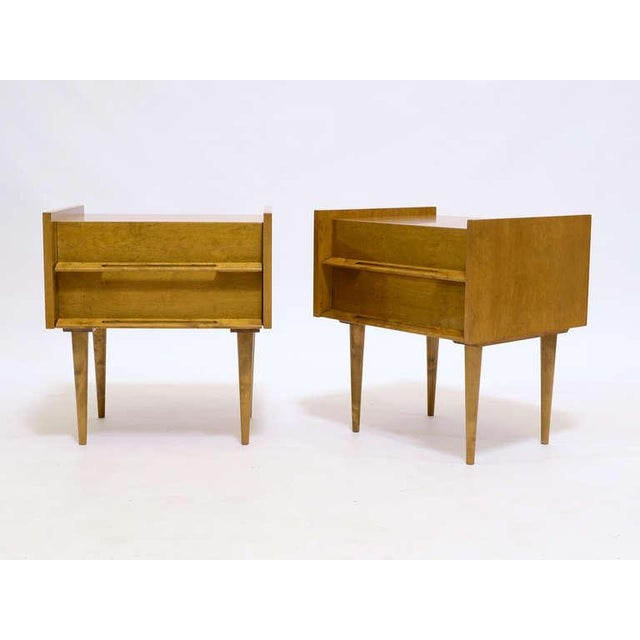 Beech Pair Of Nightstands/ End Tables By Edmond Spence For Sale - Image 7 of 8