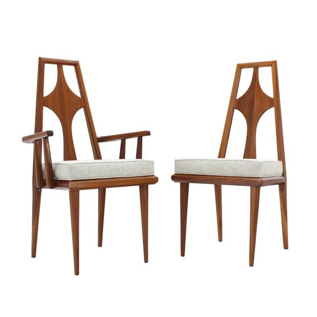 Set of Six Swedish Dining Chairs New Upholstery For Sale - Image 9 of 10