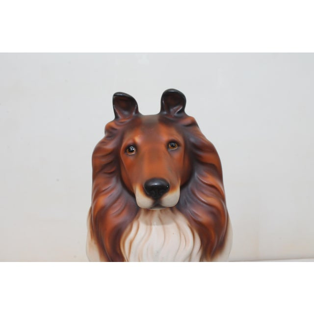 Mid-Century Glazed Ceramic Dog Sculpture For Sale - Image 11 of 12