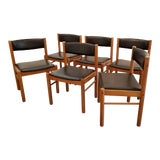 Image of Danish Modern Dining Chairs Copenhagen Set 6 For Sale