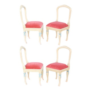 Set of Four Ballerina Side Chairs For Sale