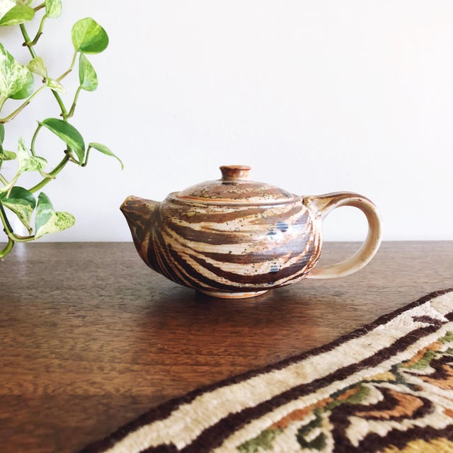 Vintage Japanese Studio Pottery Stoneware Teapot For Sale In Austin - Image 6 of 6
