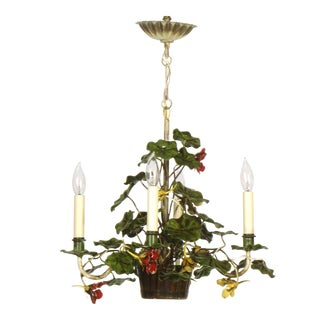 Geranium Four Light Tole Chandelier