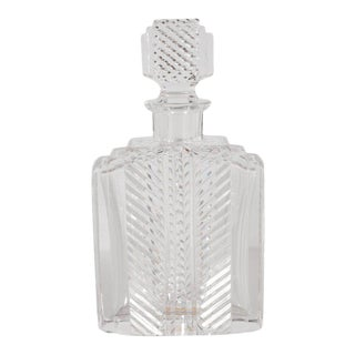 Exquisite Skyscraper Style Crystal Art Deco Hand-Cut & Beveled Crystal Decanter