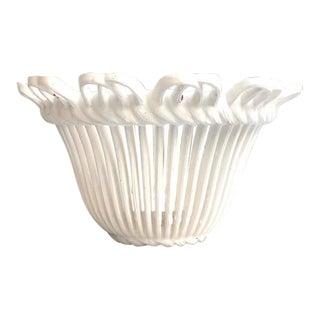 1970s White Hanging Basket Planter by Burwood Products For Sale