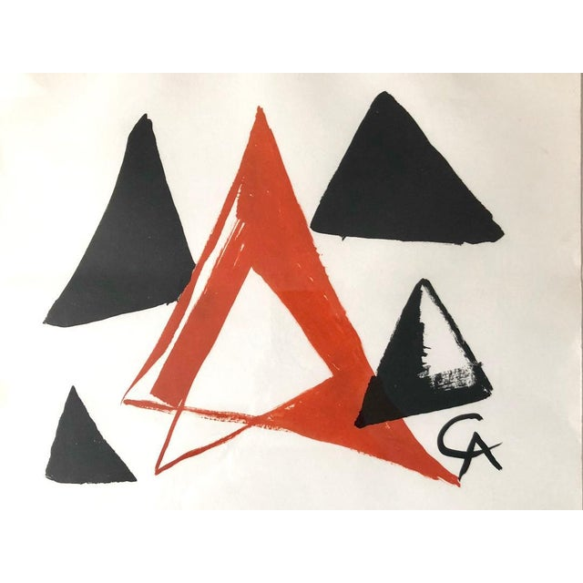 Abstract Alexander Calder Signed Knoedler Exhibition of American Art 1910-1960 Poster For Sale - Image 3 of 5